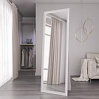 Підлогове дзеркало в спальню Black Mirror велике в білій рамі 180х60 в повний зріст для будинку