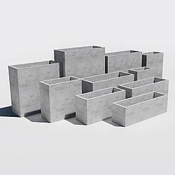 Прямоугольный Вазон бетонный уличный для сада, дома и террасы