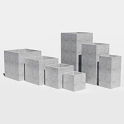 Квадратный Вазон бетонный уличный для сада, дома и террасы