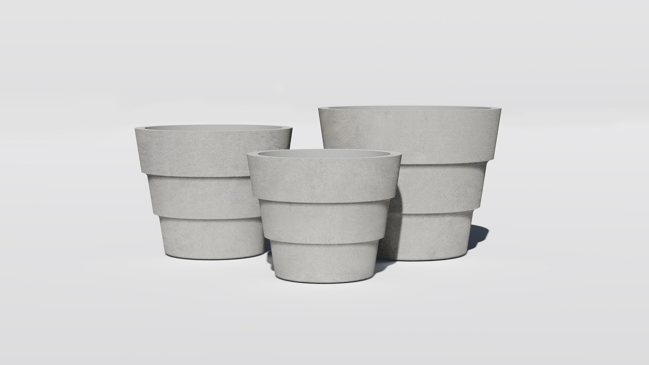 Вазон бетонный Тренто уличный, горшок для сада, дома и террасы