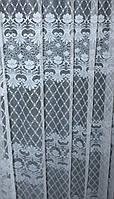 "Отрез (4х2,7м.) ткани остаток с рулона. Жаккард, коллекция ""Jac Al-2"",  цвет белый. Код 704ту 00-569"