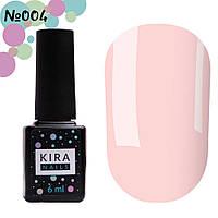 Гель-лак Kira Nails №004 (розовый камуфляж для френча, эмаль), 6 мл, фото 1