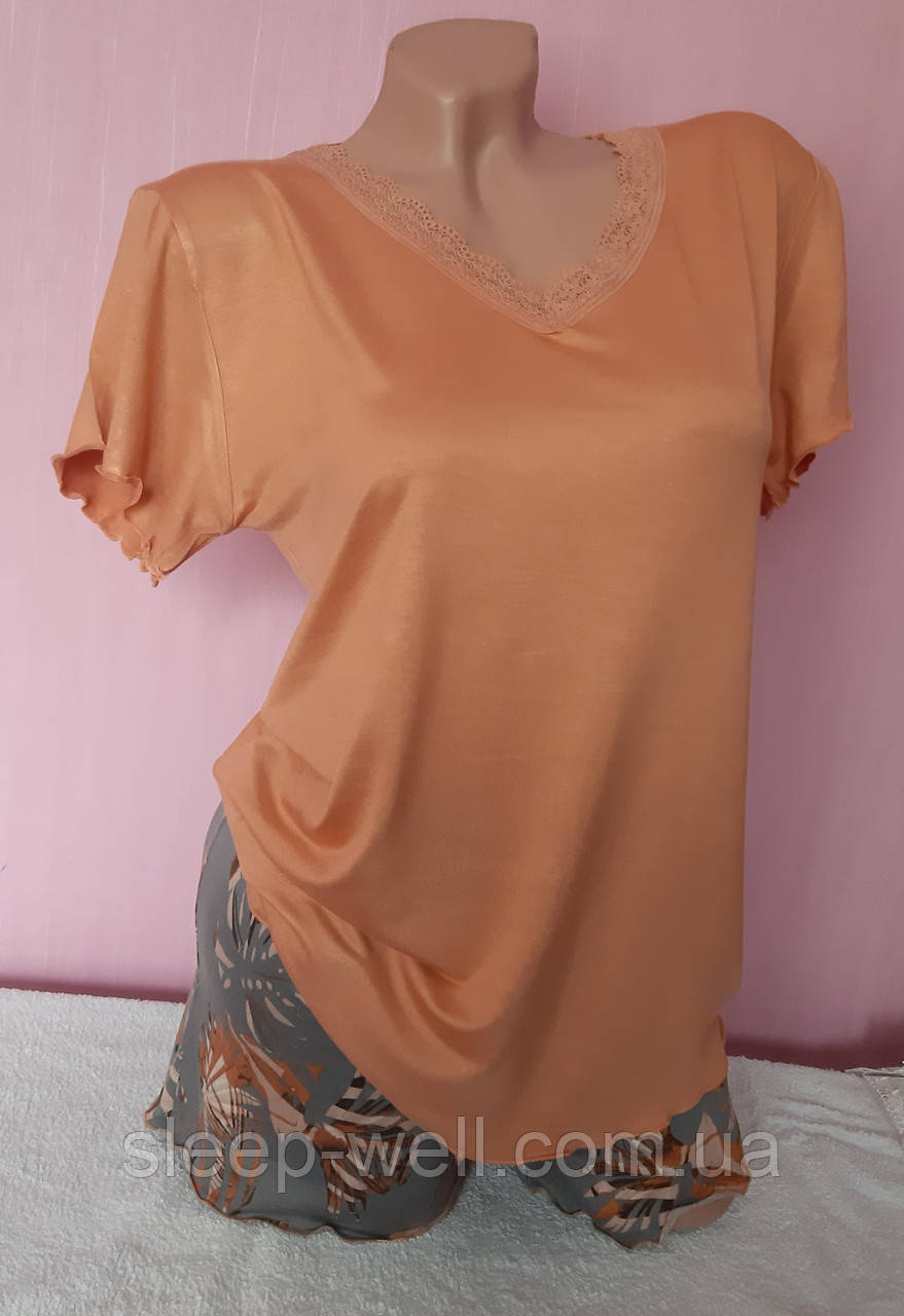 Пижама с шортами,PINK 6541