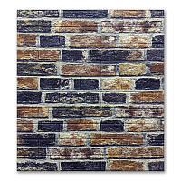 Декоративная 3Д-панель стеновая 10 шт. Кирпичная кладка Лофт (кирпич самоклеющиеся 3d панели) 700x770x5 мм, фото 1