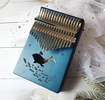 Музыкальный инструмент Калимба 17 key Kalimba Blue Dolhpine