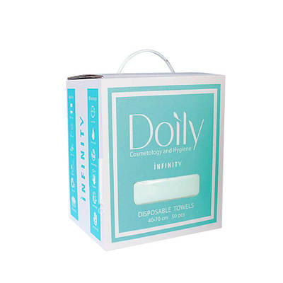 Рушники в коробці 40х70 см 50 шт м'ятні Doily