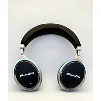Беспроводные Bluetooth наушники Bluedio F2 черные с шумоподавлением и встроенный микрофоном