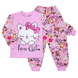 Дитяча піжама для дівчинки з малюнком Love Cat кулір