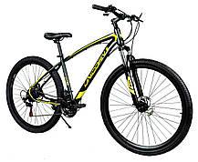 """Спортивный велосипед Unicorn - Thunder 29"""" Колеса Рама 18"""" Черно-желтый, фото 3"""