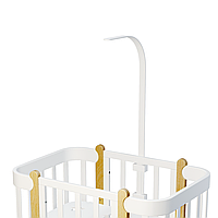 Деревянный держатель балдахина и игрушек - к кроватке NIKA TM IngVart, белый (72609003)