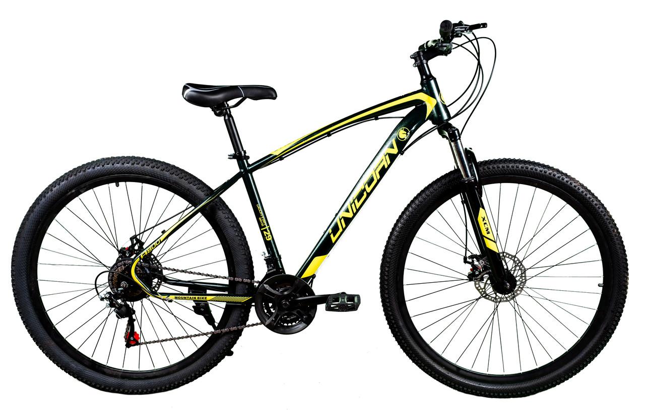 """Спортивный велосипед Unicorn - Thunder 29"""" Колеса Рама 18"""" Черно-желтый"""