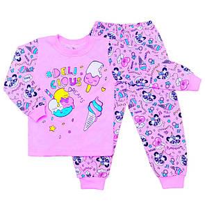 Дитяча піжама з принтом Delicious Dreams для дівчаток кулір