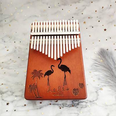Музыкальный инструмент Калимба 17 key Kalimba Brown Flamingo