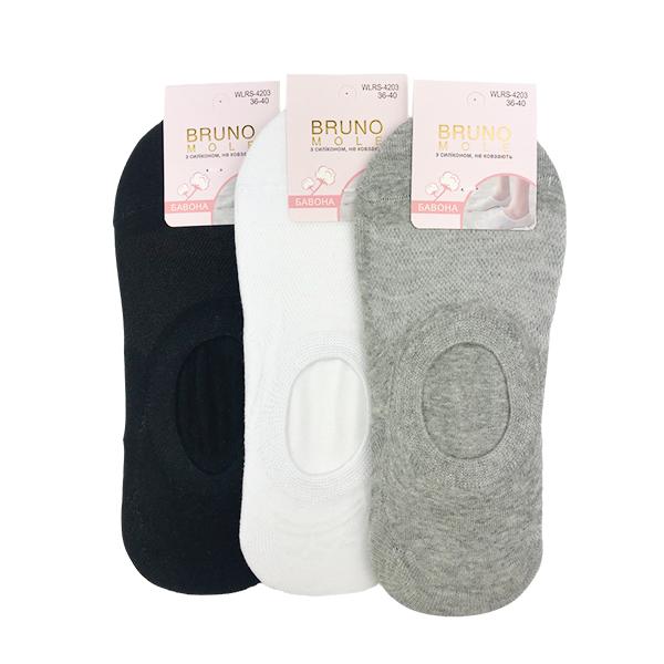 Носки следки подростковые для парней однотонные BRUNO р.35-40
