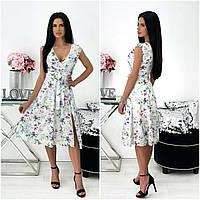 Літнє жіноче плаття в квіточку міді АА/-111440