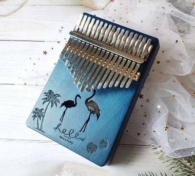 Музыкальный инструмент Калимба 17 key Kalimba Blue Flamingo