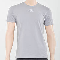Чоловіча футболка з светоотражайками на грудях і рукаві Nike (репліка) світлий сірий