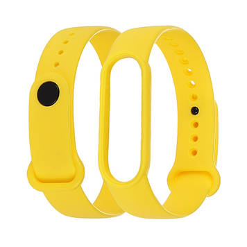 Силіконовий ремінець Anchor для Xiaomi Mi Band 5/ 6 Жовтий