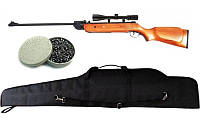 Винтовка пневматическая Air Rifle B2-4 + прицел 4х20 + пули Oztay 0,51 + чехол