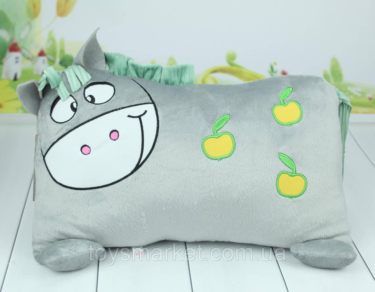 Мягкая игрушка подушка лошадка, плюшевая подушка лошадка, 37 см.