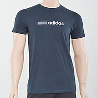 Чоловіча футболка з светоотражайкой Adidas (репліка) Графіт