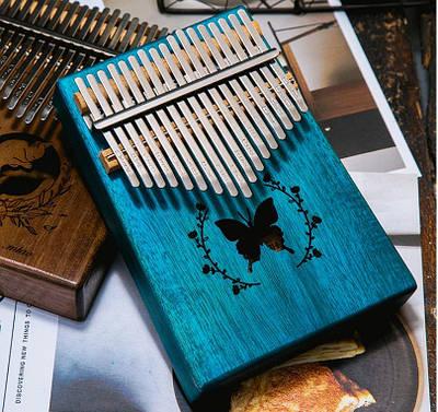 Музыкальный инструмент Калимба 17 key Kalimba Blue Butterfly