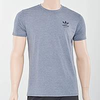 Чоловіча футболка з накаткою на грудях Adidas (репліка) сірий меланж