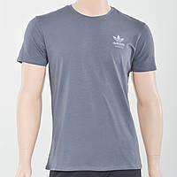 Чоловіча футболка з накаткою на грудях Adidas (репліка) темний сірий