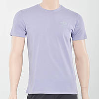 Чоловіча футболка з накаткою на грудях Adidas (репліка) бузковий