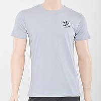 Чоловіча футболка з накаткою на грудях Adidas (репліка) світлий сірий