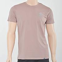 Чоловіча футболка з накаткою на грудях Adidas (репліка) світлий коричневий