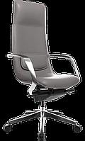 Кресло офисное для руководителя кожаное компьютерное GT Racer X-003A темно-серое