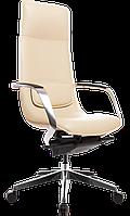 Кресло офисное для руководителя кожаное компьютерное X-003A бежевое ofp