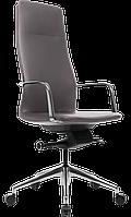 Кресло офисное для руководителя кожаное компьютерное GT Racer X-004A13 темно-серое