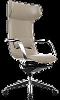 Кресло офисное для руководителя кожаное компьютерное X-003F темно-бежевое ofp