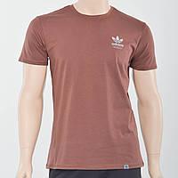 Чоловіча футболка з накаткою на грудях Adidas (репліка) коричневий
