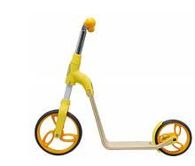 Самокат беговел для хлопчиків і дівчаток 2 в 1 трансформер від 2 до 5 років Жовтий
