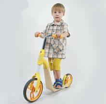 Самокат беговел для мальчиков и девочек 2 в 1 трансформер от 2 до 5 лет Желтый