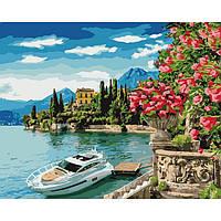 """Картина по номерам """"Краски моря"""" Идейка холст на подрамнике 40x50см КНО2746"""