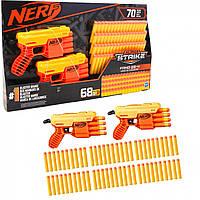Набор Бластеров Hasbro Nerf Alpha Strike Fang QS-4, оранжевый, игрушечное оружие пистолет, 2 шт., 78 патронов, от 8 лет, 20*13*3 см, (Е8314)