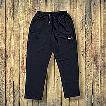 Спортивні штани чоловічі трикотажні 56 розмір чорні прямі