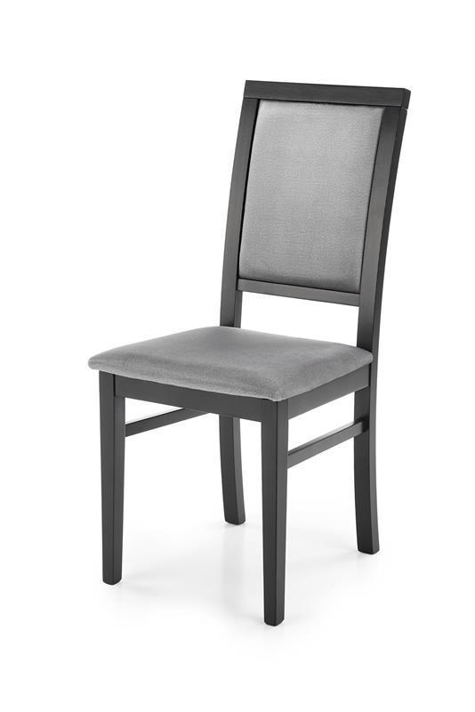 Стілець SYLWEK1 сірий/чорні ніжки velvet Monolith 85 (Halmar)