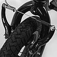 Самокати дитячий 2-х колісний з надувними колесами Corso JT 32050, ручний передній тормоз синій, фото 6