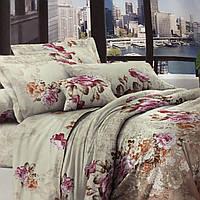 Бязевый комплект постельного белья евро размер 200 см/ 220 см