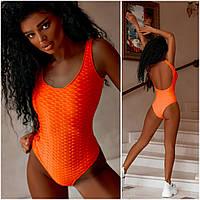 Оригінальний злитий купальник жіночий помаранчевий (4 кольори) ВШ/-5302