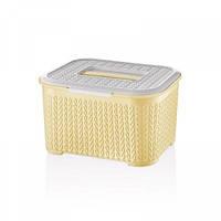 Харчовий контейнер Bager Bella 4 л Yellow (BG-461 Y)