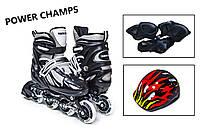 Комплект детских роликов Power Champs Black 29-33 34-37