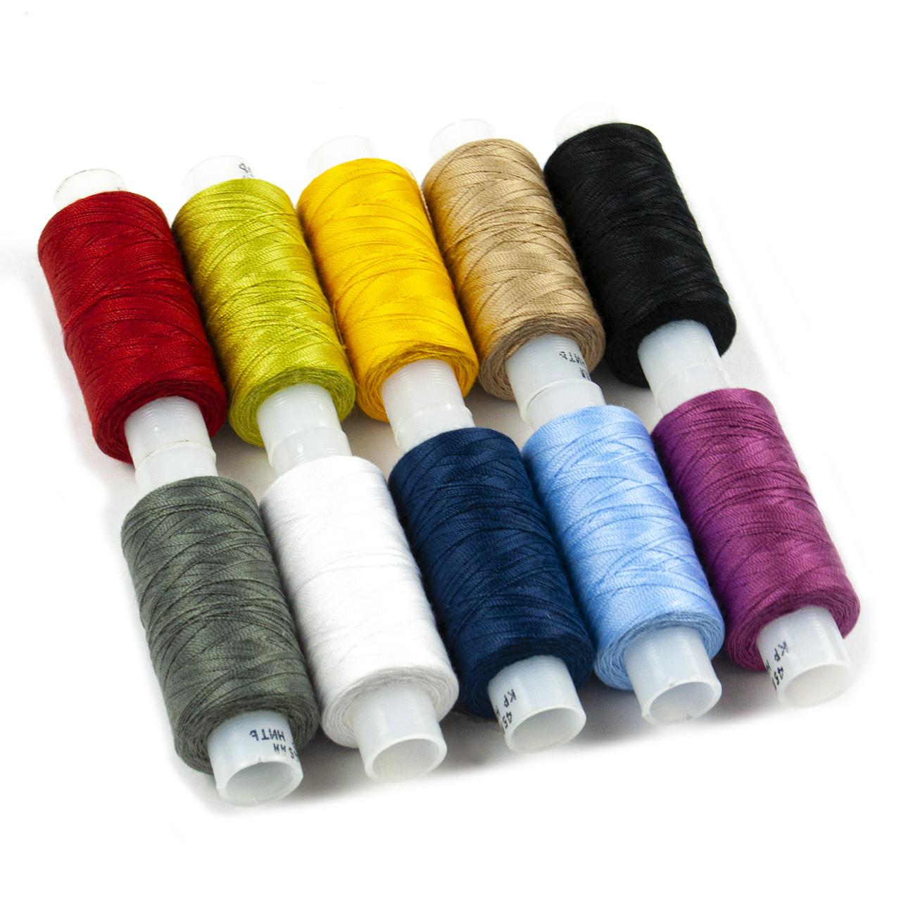 Набор ниток из лавсана для шитья и вышивания, (10 цветов)