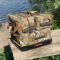 Рыболовная карповая сумка GARMATA Profish 3в1. Универсальная сумка для рыбалки с термо отделом. Ткань Cordura.