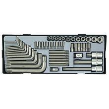 Набір інструменту Torx 52 пр. (FORCE T3521)